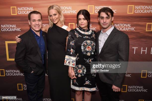 TR Knight Poppy Delevingne Samantha Colley and Alex Rich of 'Genius Picasso' attend National Geographic's FURTHER Front immersive experience where...