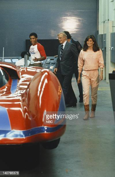 RIDER Knight Racer Episode 9 Pictured Peter Parros as 'RC3' Reginald Cornelius III Edward Mulhare as Devon Miles Patricia McPherson as Bonnie Barstow...