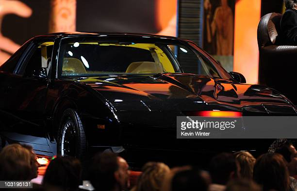 Knight Rider's KITT is displayed onstage at the Comedy Central Roast Of David Hasselhoff held at Sony Pictures Studios on August 1 2010 in Culver...