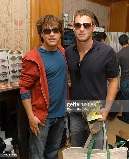TR Knight wearing Valentino 148S Sunglasses and Justin Chambers wearing Marc Jacobs 16S Sunglasses