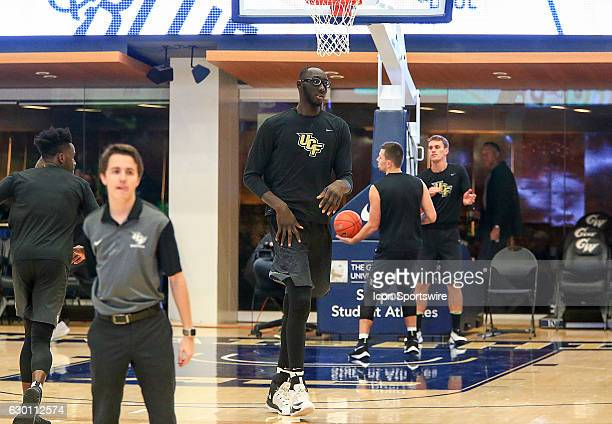 Knights center Tacko Fall before a NCAA men's Div 1 basketball game on December 15 at the Smith Center in Washington DC George Washington University...