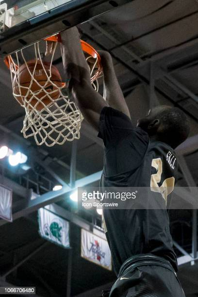 Knights center Tacko Fall dunks the ball during the basketball game between the UCF Knights and the and Alabama Crimson Tide on November 24 2018 at...