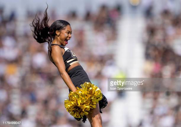 Knights cheerleader during the football game between the UCF Knights and the Houston Cougars on November 2 2019 at Bright House Networks Stadium in...