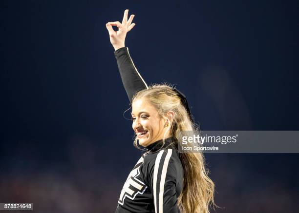 Knights cheerleader during the football game between the UCF Knights and USF Bulls on November 24 2017 at Bright House Networks Stadium in Orlando FL