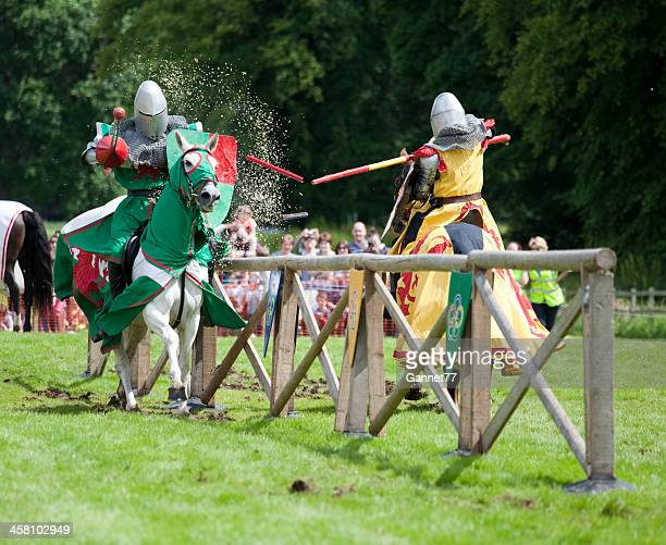 Knights clashing at a Joust