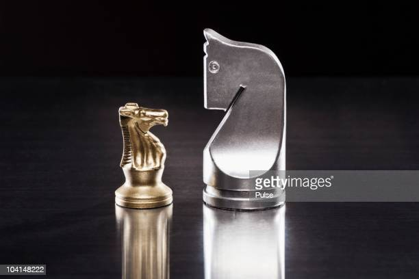 knights face to face. - mismatch stock pictures, royalty-free photos & images