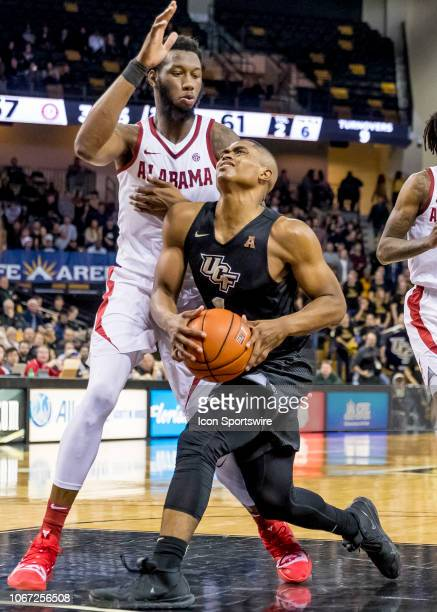 Knights guard BJ Taylor during the basketball game between the UCF Knights and the and Alabama Crimson Tide on November 29 2018 at CFE Arena in...