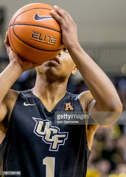 Knights guard BJ Taylor takes a free throw during the basketball game between the UCF Knights and the and Alabama Crimson Tide on November 29 2018 at...