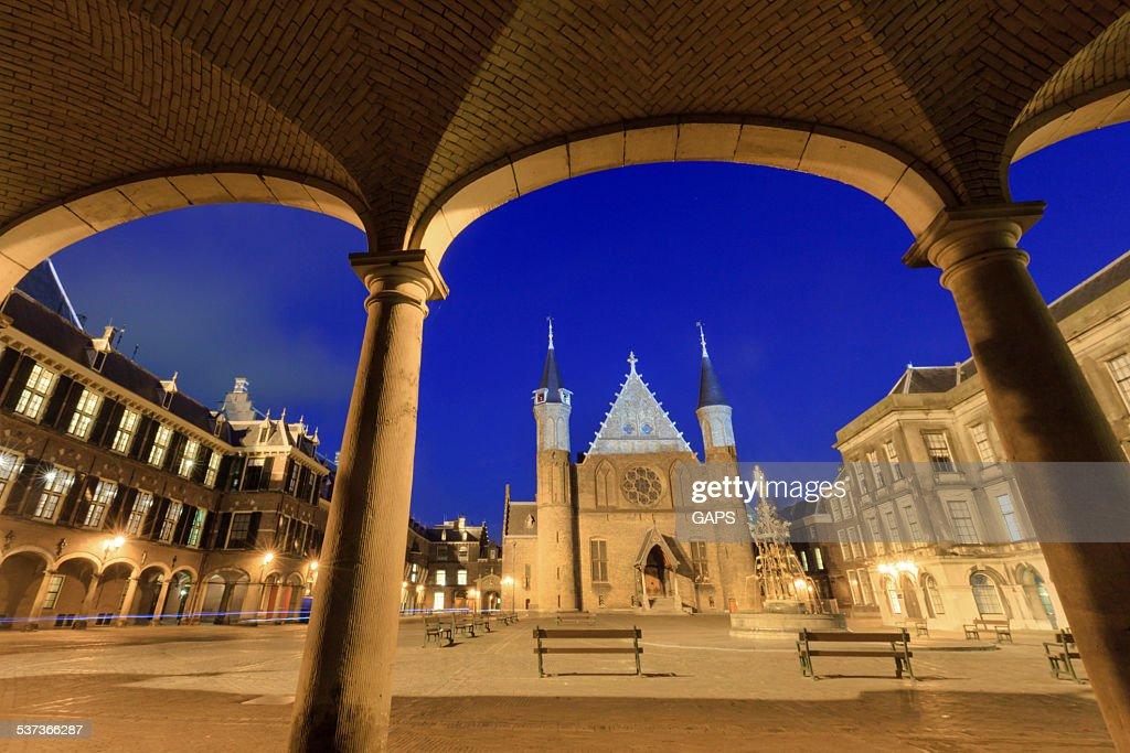 Knights' Hall at Binnenhof in The Hague : Stock Photo