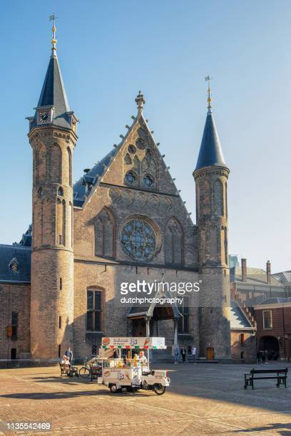 Knight's Hall at the Binnenhof and Ijsverkoper in The Hague, the Netherlands