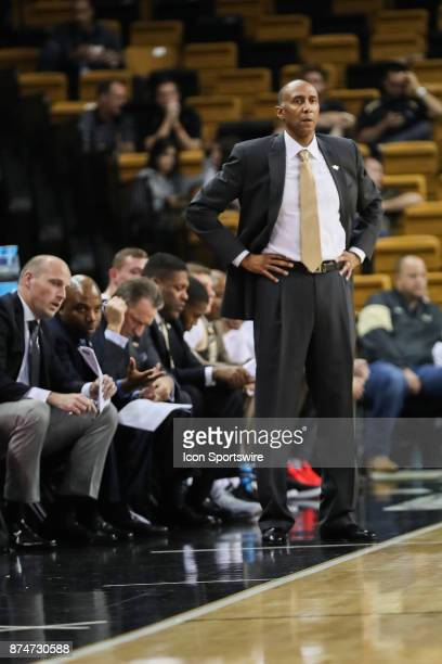Knights head coach Johnny Dawkins during the basketball game between the UCF Knights and GardnerWebb on November 15 2017 at CFE Arena in Orlando FL