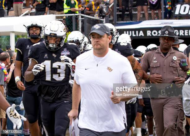 Knights head coach Josh Heupel during the AAC Championship football game between the UCF Knights and the Memphis Tigers on December 1 2018 at Bright...