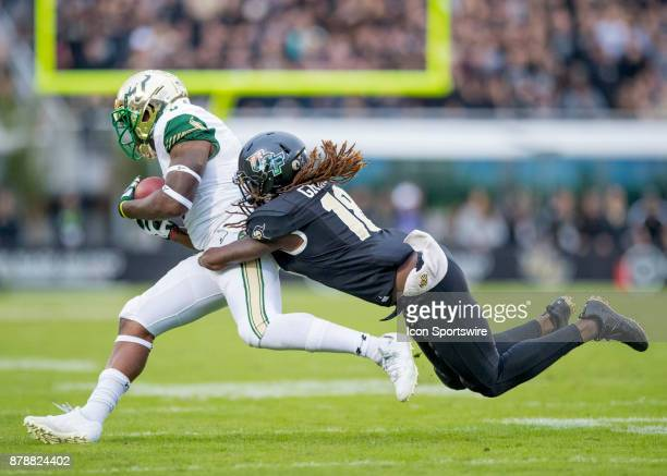 Knights linebacker Shaquem Griffin makes a tackle during the football game between the UCF Knights and USF Bulls on November 24 2017 at Bright House...