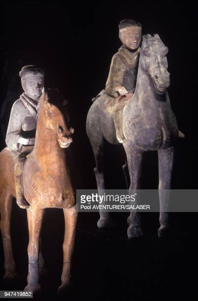 Knights Of The Dynasty Han At Exhibition Of The China First Emperor Qin Shi Huang Terracotta Warriors Paris June 1992