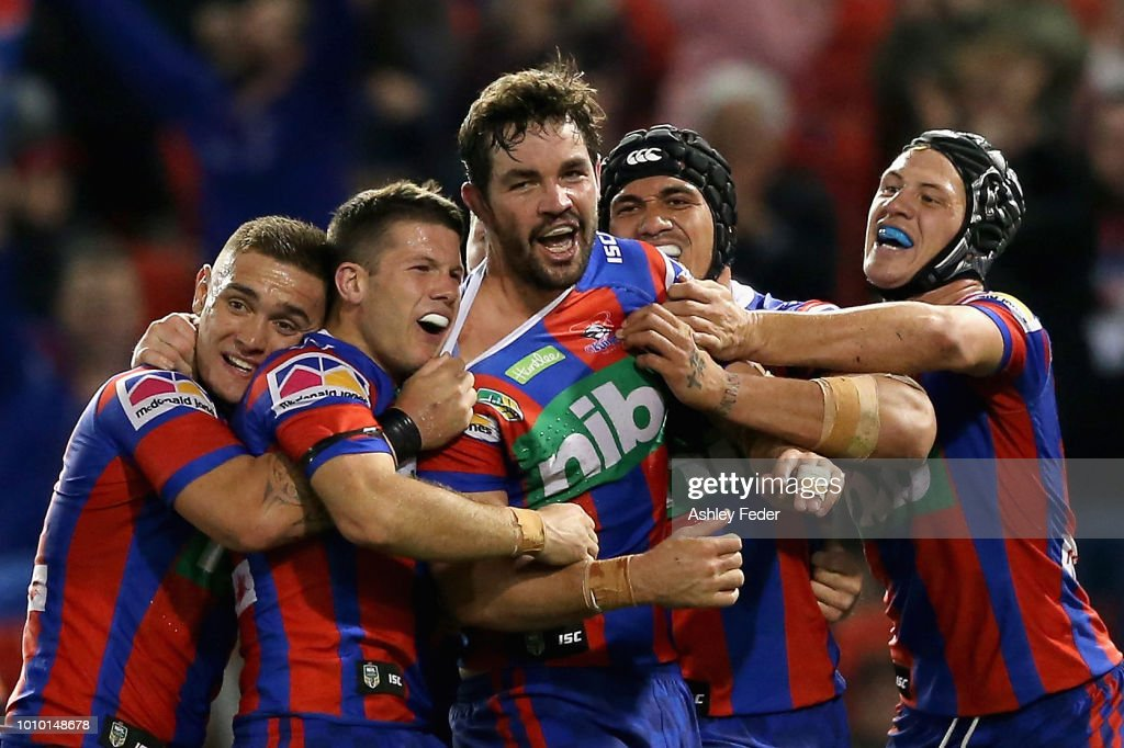 NRL Rd 21 - Knights v Tigers : News Photo