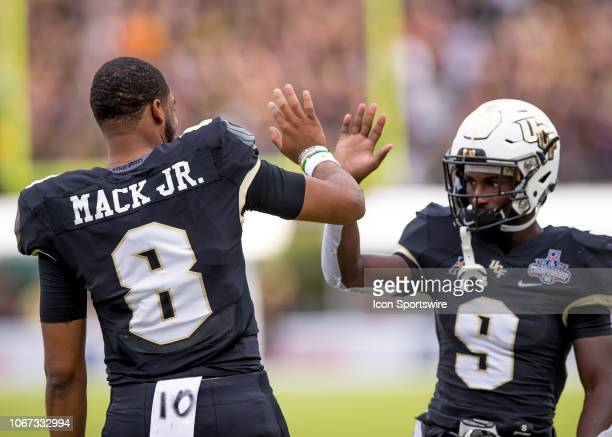 Knights quarterback Darriel Mack Jr before the AAC Championship football game between the UCF Knights and the Memphis Tigers on December 1 2018 at...