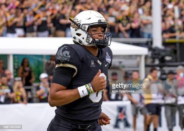 Knights quarterback Darriel Mack Jr during the AAC Championship football game between the UCF Knights and the Memphis Tigers on December 1 2018 at...