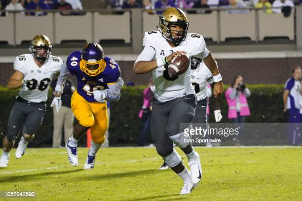 Knights quarterback Darriel Mack Jr scrambles out of the pocket during a game between the UCF Knights and the East Carolina Pirates at DowdyFicklen...