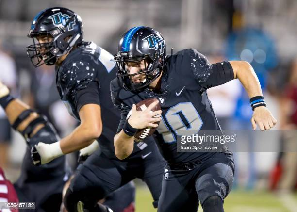 Knights quarterback McKenzie Milton runs the ball during the football game between the UCF Knights and Temple Owls on November 1 2018 at Bright House...