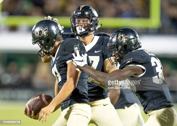Knights revolver the Southern Methodist Mustangs fumbleduring the football game between the UCF and SMU on October 6 2018 at Bright House Network...