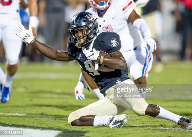 Knights running back Adrian Killins Jr scores a touchdown during the football game between the UCF and SMU on October 6 2018 at Bright House Network...