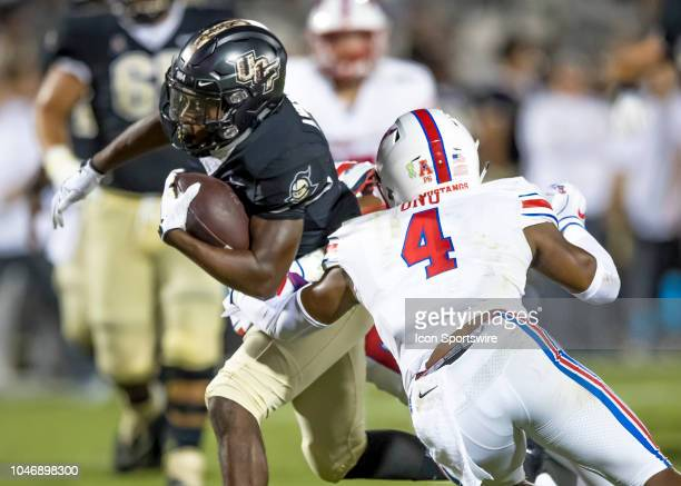 Knights running back Otis Anderson runs the ball during the football game between the UCF and SMU on October 6 2018 at Bright House Network Stadium...