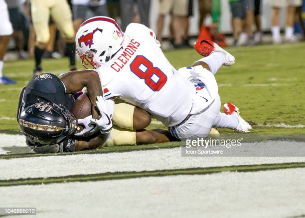 Knights running back Otis Anderson scores a touchdown during the football game between the UCF and SMU on October 6 2018 at Bright House Network...