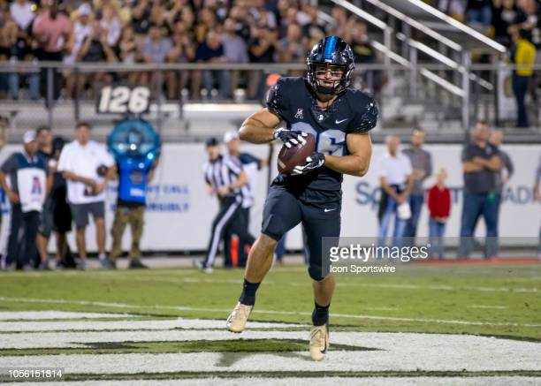 Knights tight end Michael Colubiale scores a touchdown during the football game between the UCF Knights and Temple Owls on November 1 2018 at Bright...
