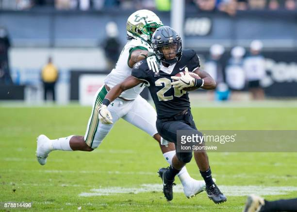 Knights Wide receiver Otis Anderson with a first down reception during the football game between the UCF Knights and USF Bulls on November 24 2017 at...