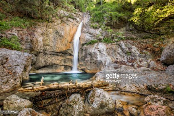 königsbachfall waterfall in nationalpark berchtesgaden - königssee bavaria stock photos and pictures