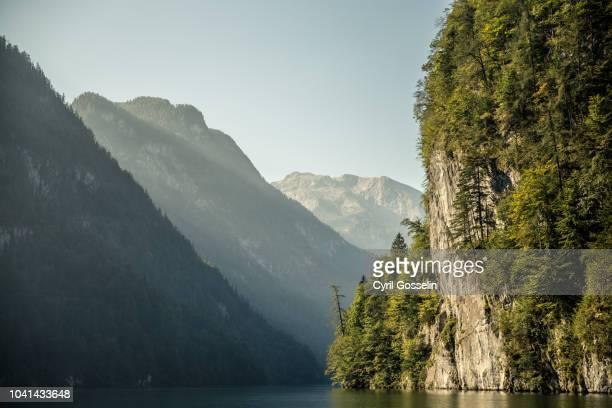 königsee and berchtesgaden alps - berchtesgaden national park stock photos and pictures