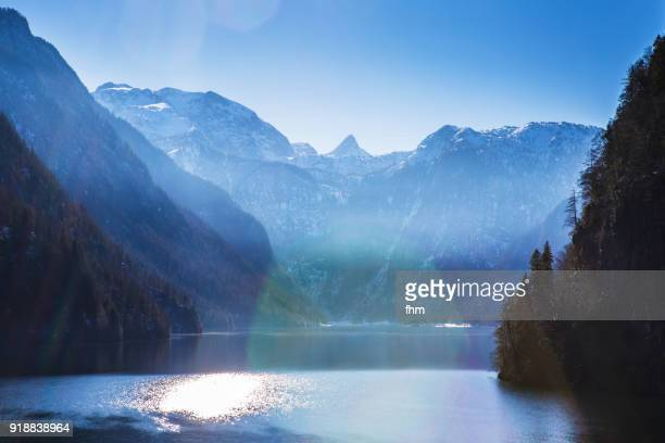 königssee (berchtesgadener land, bavaria, germany) - königssee bavaria stock photos and pictures