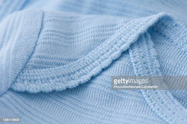 Knitted baby clothing, close-up