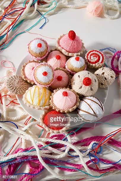 Gestrickte Kuchen