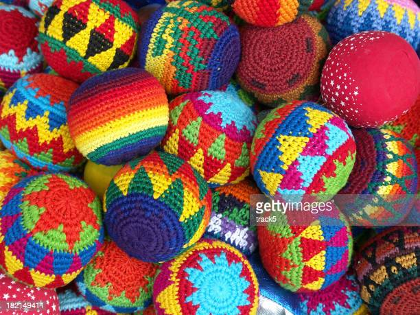 Malha de lã colorida Bolas de Moldura completa textura de fundo