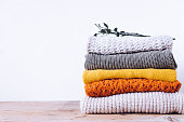 Knitted wool sweaters