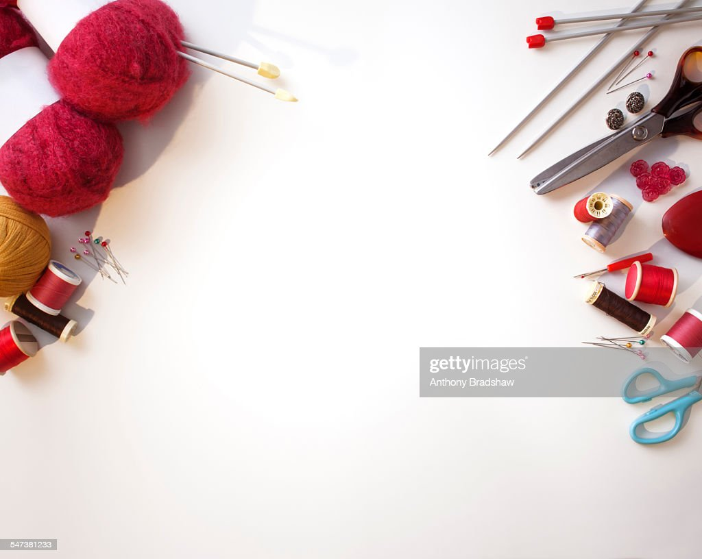 Knitting And Sewing Handicrafts Stock Photo Getty Images