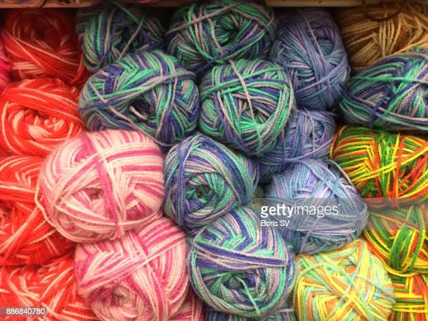Knitting wool yarns with mixed colors