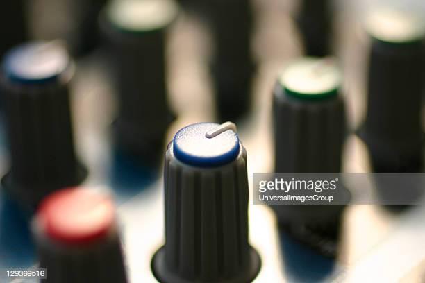 EQ knob on a mixer