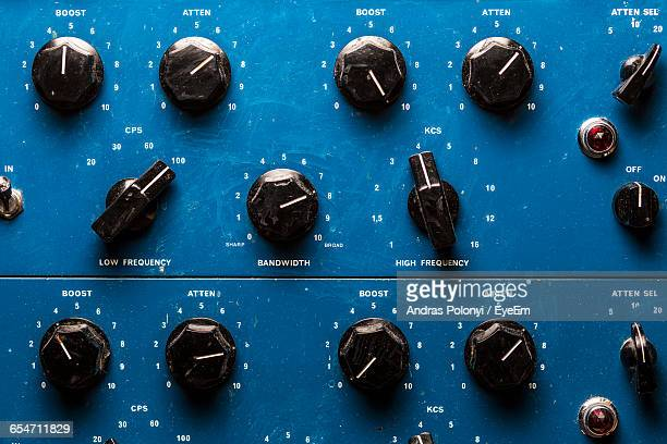 Knobs Of Control Panel In Studio