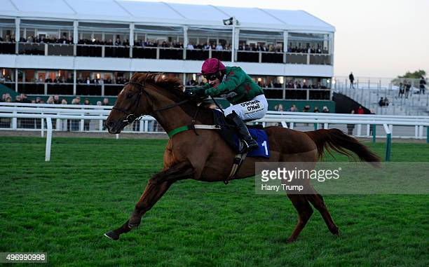 Knock House ridden by Nina Carberry races clear to win the Cheltenham Club Amateur Riders Handicap Chase at Cheltenham Racecourse on November 13 2015...