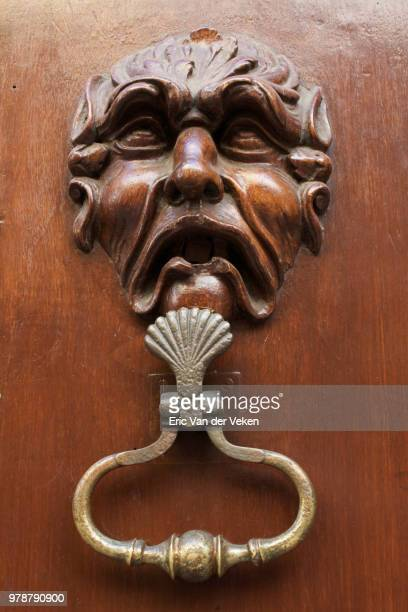 knock knock - door knocker stock photos and pictures