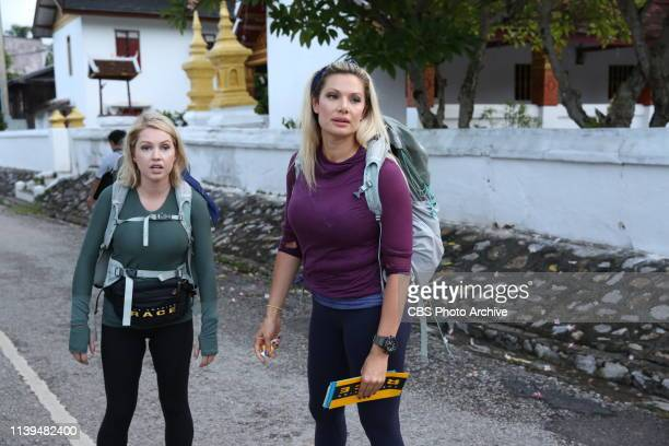 Knock the Newbie Out of UsPictured LR Britney Haynes and Janelle Pierzina on THE AMAZING RACE airing Wednesday April 24 on the CBS Television Network