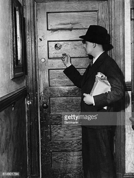 Knocking At Door Of A Speakeasy During Prohibition