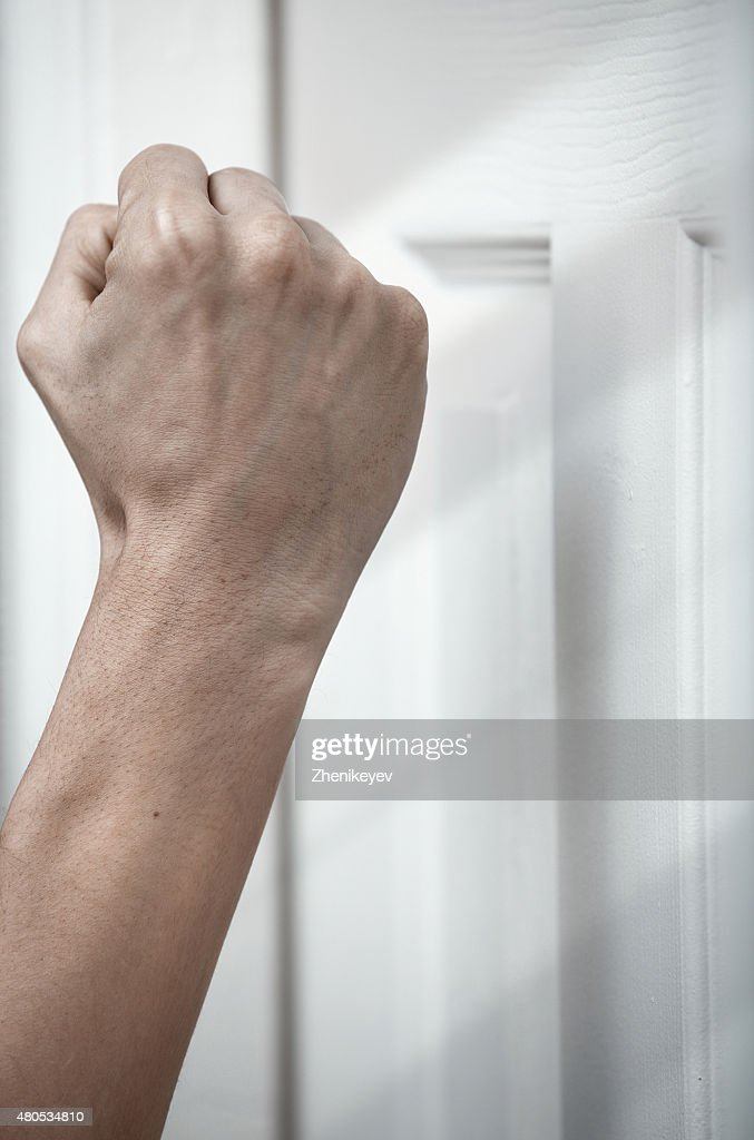 Knocking at the door : Stockfoto