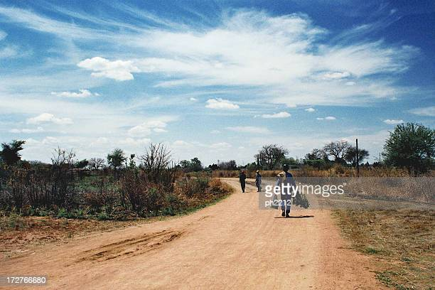 knocking-off time for miners, zimbabwe - zimbabwe stock photos and pictures