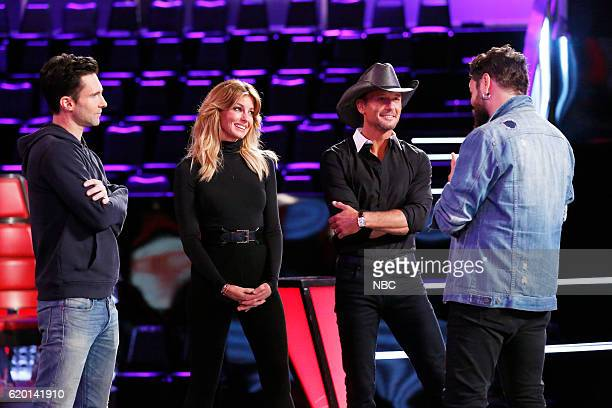 THE VOICE Knockout Reality Pictured Adam Levine Faith Hill Tim McGraw