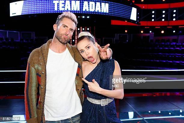 THE VOICE 'Knockout Reality' Pictured Adam Levine Miley Cyrus