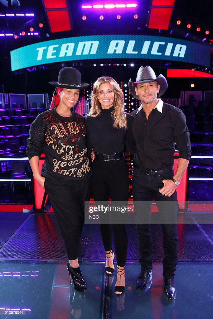 THE VOICE -- 'Knockout Reality' -- Pictured: (l-r) Alicia Keys, Faith Hill, Tim McGraw --