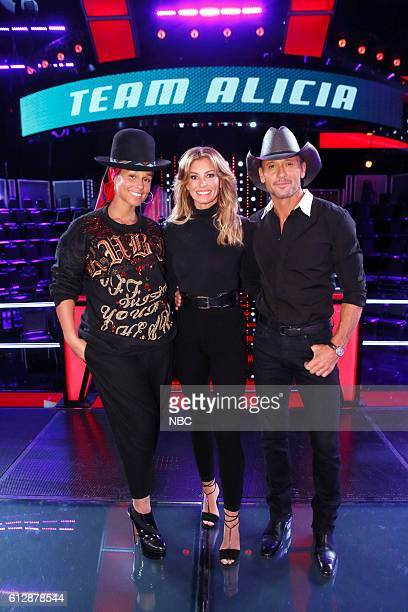 THE VOICE 'Knockout Reality' Pictured Alicia Keys Faith Hill Tim McGraw
